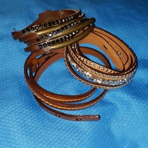 Jewelry - Set of 3 brown wrap/cuff bracelets